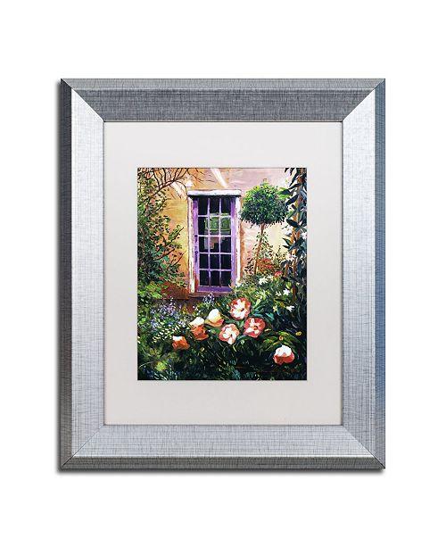 "Trademark Global David Lloyd Glover 'Tuscany Villa Garden' Matted Framed Art - 11"" x 14"""