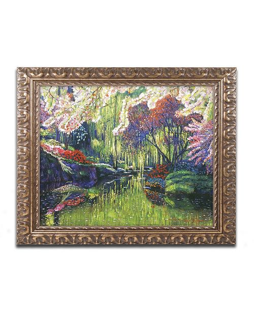 "Trademark Global David Lloyd Glover 'Spring Concerto' Ornate Framed Art - 11"" x 14"""