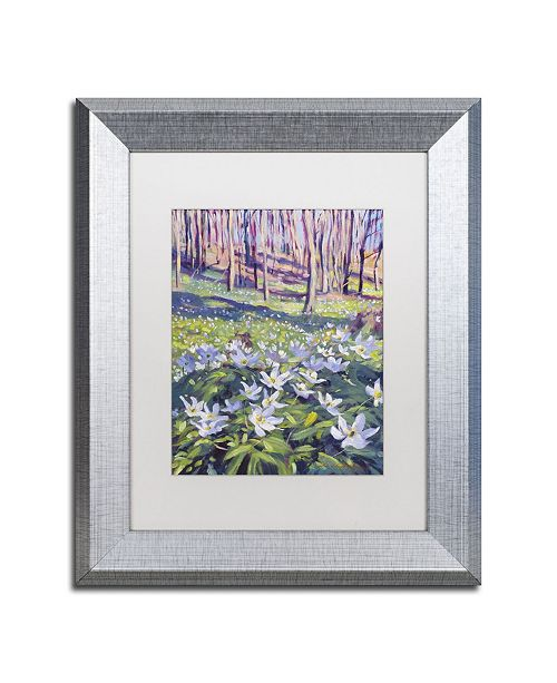 """Trademark Global David Lloyd Glover 'Anemones in the Meadow' Matted Framed Art - 11"""" x 14"""""""