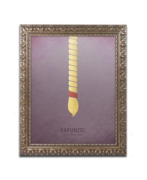 """Trademark Global Christian Jackson 'Rapunzel' Ornate Framed Art - 11"""" x 14"""""""