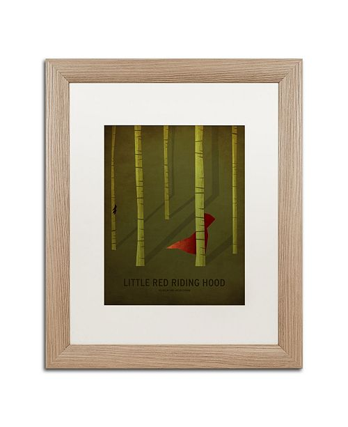 "Trademark Global Christian Jackson 'Red Riding Hood' Matted Framed Art - 16"" x 20"""