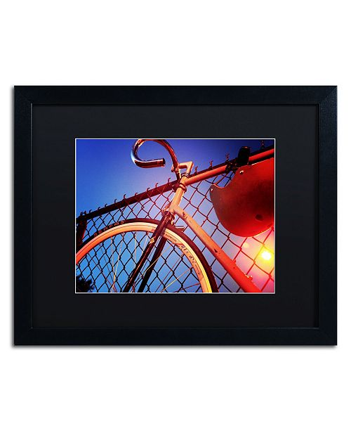 "Trademark Global Jason Shaffer 'Fixie' Matted Framed Art - 20"" x 16"""