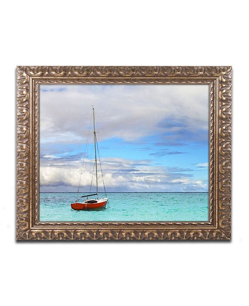 "Trademark Global Jason Shaffer 'Hawaii 3' Ornate Framed Art - 14"" x 11"""