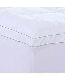 AC Pacific Christies Home Living Square California King Quilted Accent Piping Mattress Pad with Fitted Mattress Cover