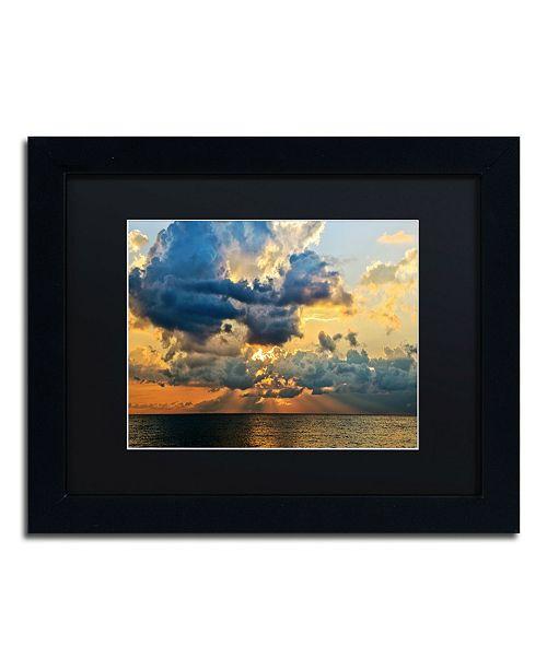 "Trademark Global Jason Shaffer 'July Sunset' Matted Framed Art - 14"" x 11"""