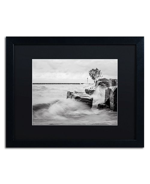 "Trademark Global Jason Shaffer 'Lake Erie' Matted Framed Art - 20"" x 16"""