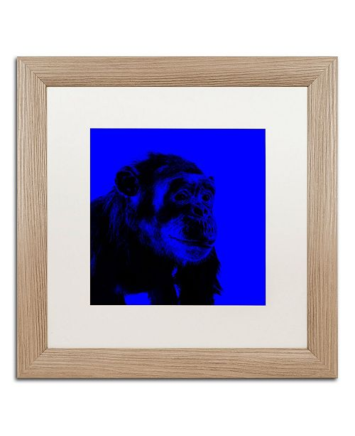 """Trademark Global Claire Doherty 'Chimp No 1' Matted Framed Art - 16"""" x 16"""""""
