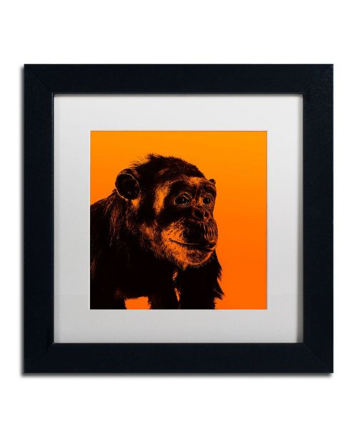 "Trademark Global Claire Doherty 'Chimp No 3' Matted Framed Art - 11"" x 11"""