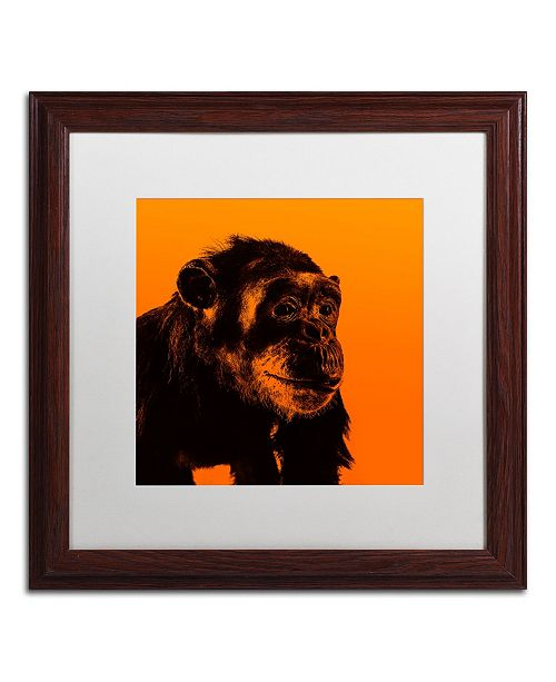 "Trademark Global Claire Doherty 'Chimp No 3' Matted Framed Art - 16"" x 16"""