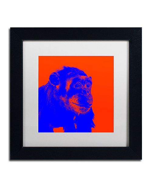 """Trademark Global Claire Doherty 'Chimp No 6' Matted Framed Art - 11"""" x 11"""""""