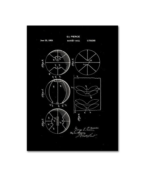"""Trademark Global Claire Doherty 'Basketball Patent 1929 Black' Canvas Art - 24"""" x 32"""""""