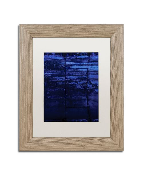 "Trademark Global Claire Doherty 'Blocks of Blue' Matted Framed Art - 11"" x 14"""