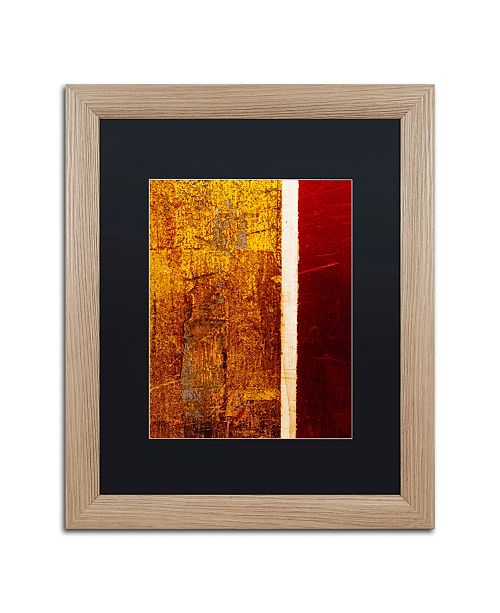 """Trademark Global Claire Doherty 'Gold Flakes' Matted Framed Art - 16"""" x 20"""""""