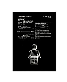 "Claire Doherty 'Lego Man Patent 1979 Black' Canvas Art - 24"" x 32"""