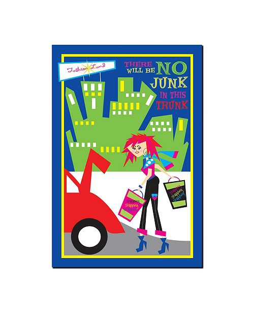 """Trademark Global No Junk in the Trunk by Grace Riley Canvas Art - 19"""" x 14"""""""