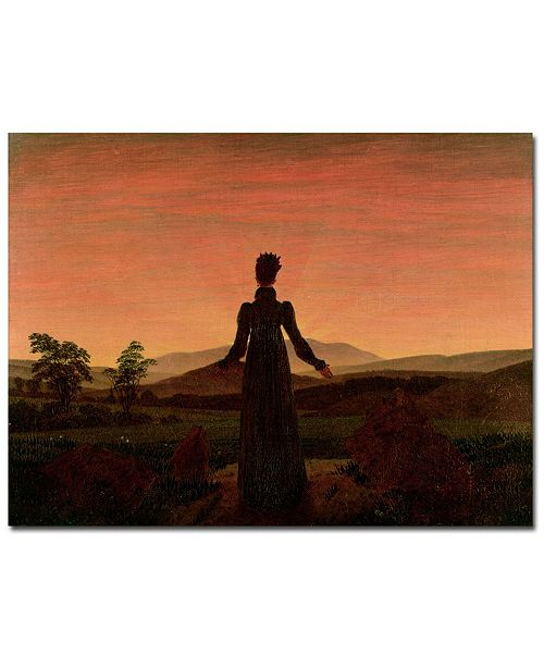 "Trademark Global Caspar David Friedrich 'Woman at Dawn' Canvas Art - 24"" x 18"""