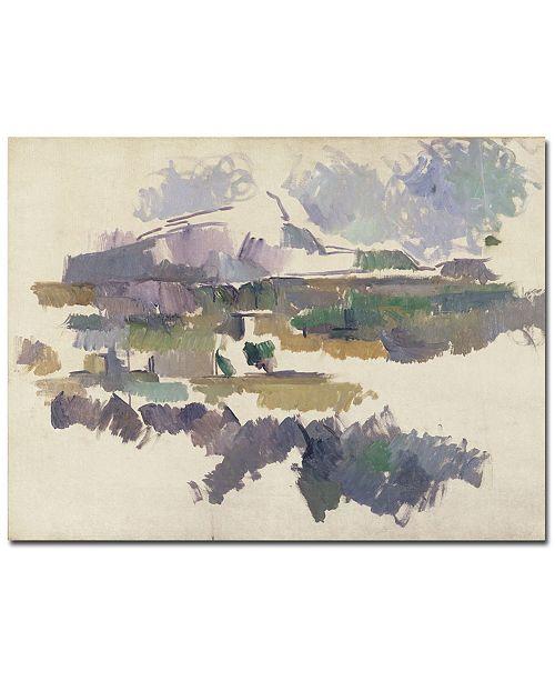"Trademark Global Paul Cezanne 'Montagne Sainte Victorie, 1904' Canvas Art - 24"" x 18"""