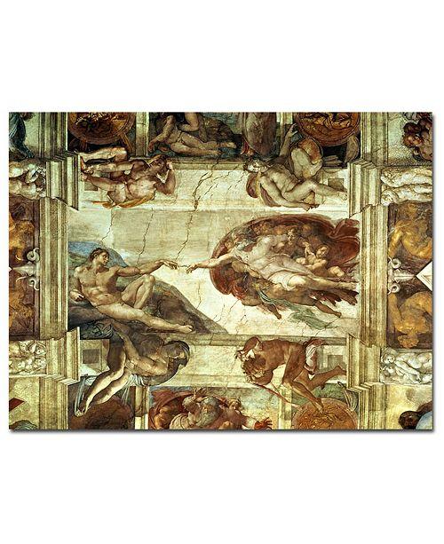 "Trademark Global Michelangelo 'The Creation of Adam' Canvas Art - 14"" x 19"""