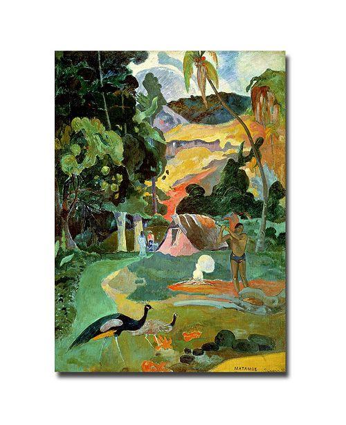 "Trademark Global Paul Gauguin 'Matamoe' Canvas Art - 24"" x 24"""