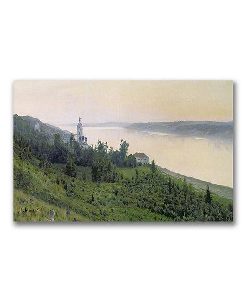 "Trademark Global Isaac Levitan 'Cold Landscape' Canvas Art - 24"" x 14"""
