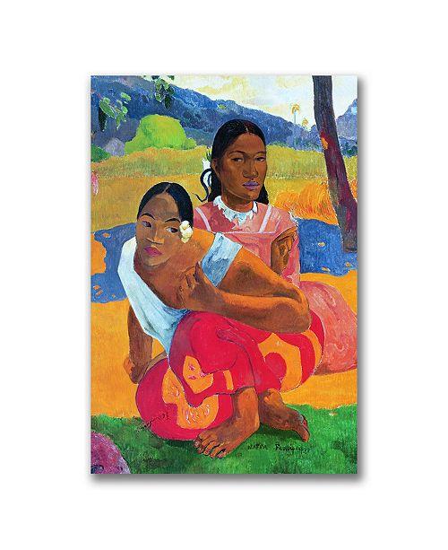 "Trademark Global Paul Gauguin 'Nafea Faaipoipo' Canvas Art - 24"" x 16"""