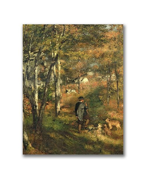 "Trademark Global Pierre Auguste Renoir 'Jules Le Coeur in the Forest' Canvas Art - 32"" x 24"""
