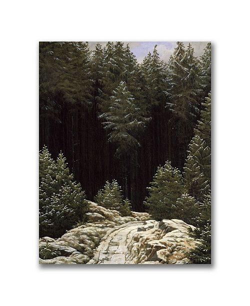 "Trademark Global Caspar Friedrich 'Early Snow' Canvas Art - 32"" x 24"""