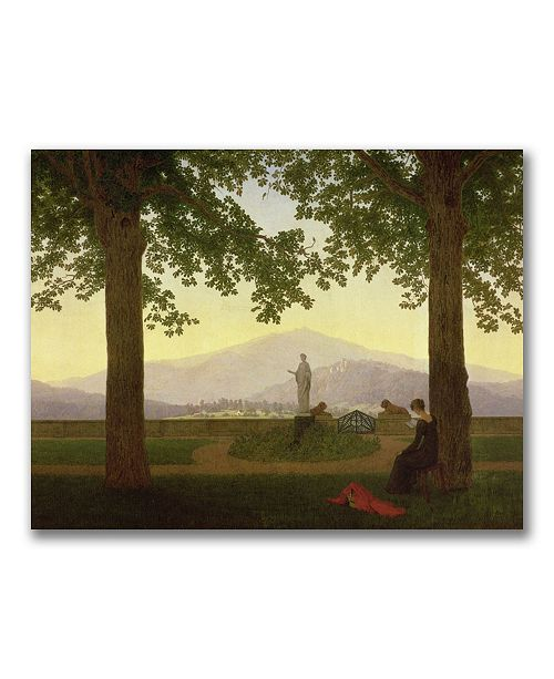 "Trademark Global Caspar Friedrich 'Garden Terrace 1811' Canvas Art - 47"" x 35"""