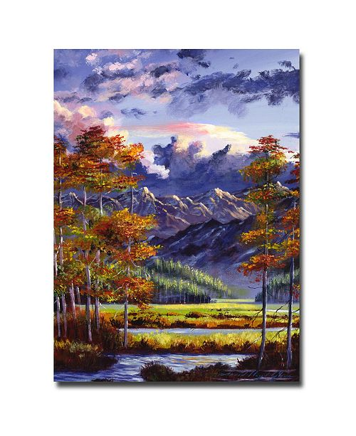 "Trademark Global David Lloyd Glover 'Mountain River Valley' Canvas Art - 24"" x 18"""