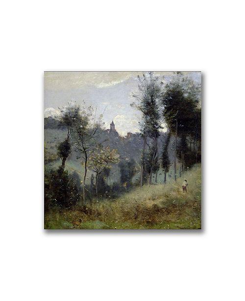 "Trademark Global Jean Baptiste Corot 'Canteleu near Rouen' Canvas Art - 24"" x 24"""