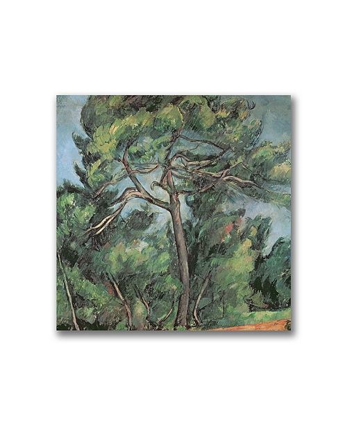 "Trademark Global Paul Cezanne 'The Large Pine' Canvas Art - 24"" x 24"""