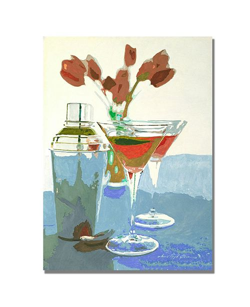 "Trademark Global David Lloyd Glover 'Tulips and Martinis' Canvas Art - 32"" x 24"""
