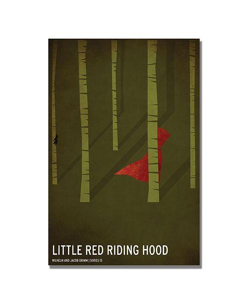 "Trademark Global Christian Jackson 'Red Riding Hood' Canvas Art - 24"" x 16"""