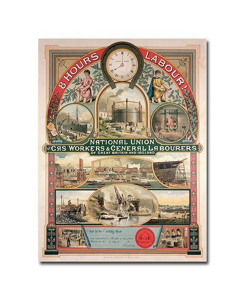 """Trademark Global National Union Gas and General Labourers 1889' Canvas Art - 32"""" x 24"""""""