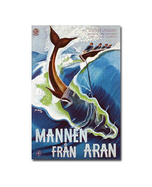 "Trademark Global J. Olsens Lito 'Mannen Fran Aran 1937' Canvas Art - 32"" x 22"""