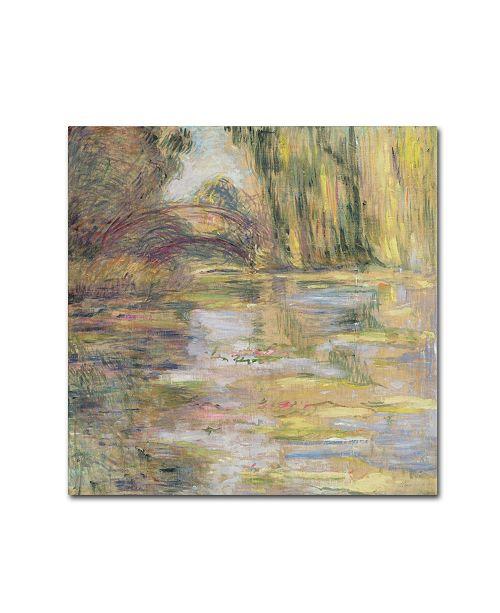 "Trademark Global Claude Monet 'Waterlily Pond, The Bridge' Canvas Art - 14"" x 14"""
