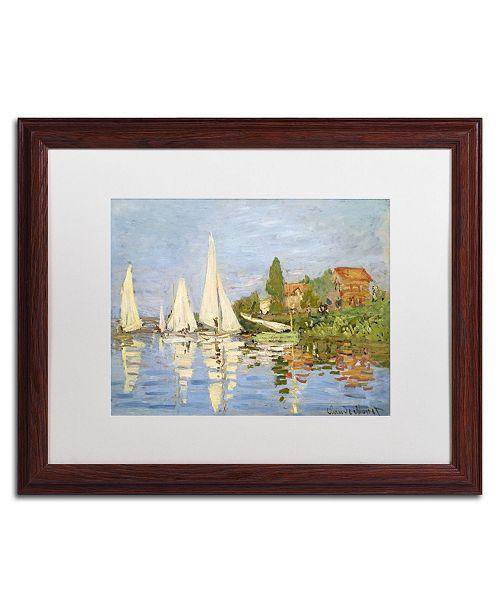 """Trademark Global Claude Monet 'Regatta at Argenteuil' Matted Framed Art - 20"""" x 16"""""""
