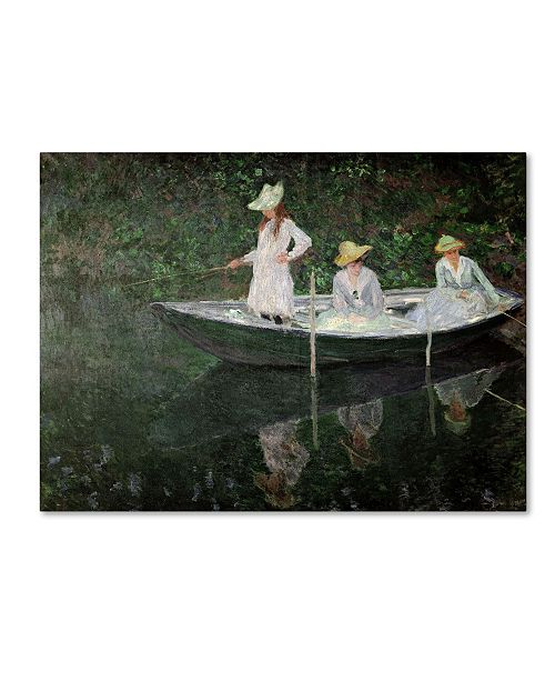 "Trademark Global Claude Monet 'The Boat at Giverny' Canvas Art - 24"" x 18"""