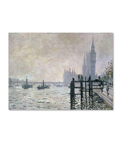"""Trademark Global Claude Monet 'The Thames Below Westminster' Canvas Art - 24"""" x 16"""""""