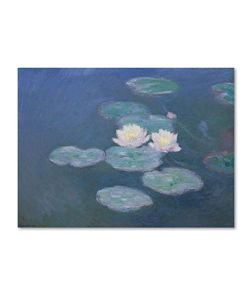 "Trademark Global Claude Monet 'Waterlilies Evening' Canvas Art - 14"" x 19"""