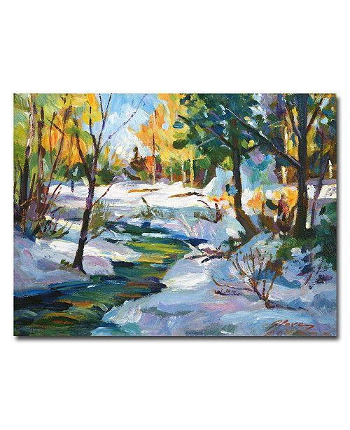 "Trademark Global David Lloyd Glover 'Early Snowfall' Canvas Art - 47"" x 35"""