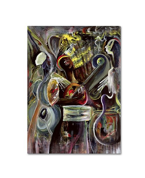 "Trademark Global Ikahl Beckford 'Pearl Jam' Canvas Art - 14"" x 19"""