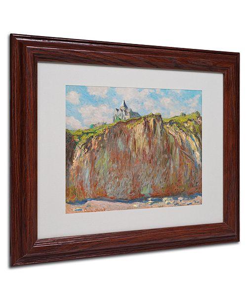 """Trademark Global Claude Monet 'Church at Varengeville' Matted Framed Art - 14"""" x 11"""""""