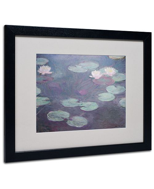 "Trademark Global Claude Monet 'Pink Lilies 1897-1899' Matted Framed Art - 20"" x 16"""