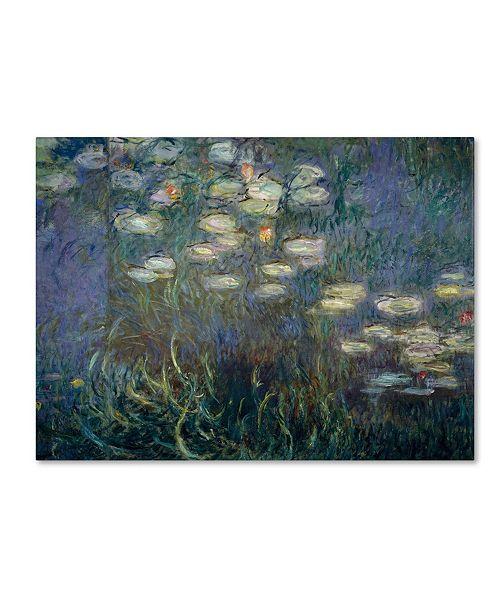 """Trademark Global Claude Monet 'Water Lilies 1840-1926' Canvas Art - 47"""" x 35"""""""