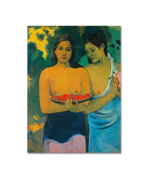 "Trademark Global Paul Gauguin 'Two Tahitian Women 1899' Canvas Art - 32"" x 24"""
