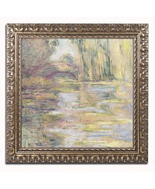 "Claude Monet 'Waterlily Pond, The Bridge' Ornate Framed Art - 20"" x 16"""