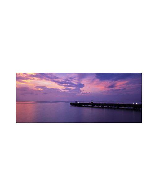 "Trademark Global David Evans 'Arrivals Meeru Island' Canvas Art - 32"" x 10"""