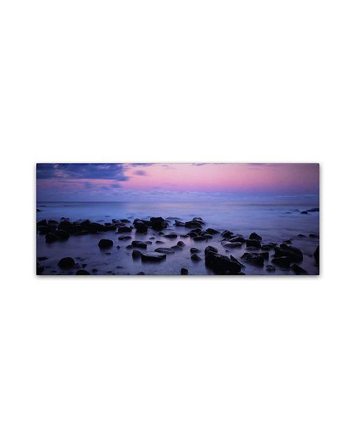 "Trademark Global David Evans 'Lorne Coastline-Great Ocean Road' Canvas Art - 19"" x 6"""