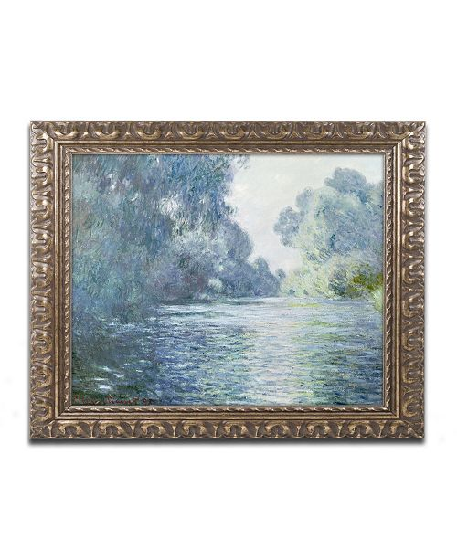 "Trademark Global Claude Monet 'Branch of the Seine near Giverny' Ornate Framed Art - 16"" x 20"""